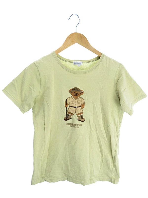 【BURBERRY'S】【トップス】【子供服】バーバリーズ『半袖クマ柄Tシャツ size160A』レディース カットソー 1週間保証【中古】