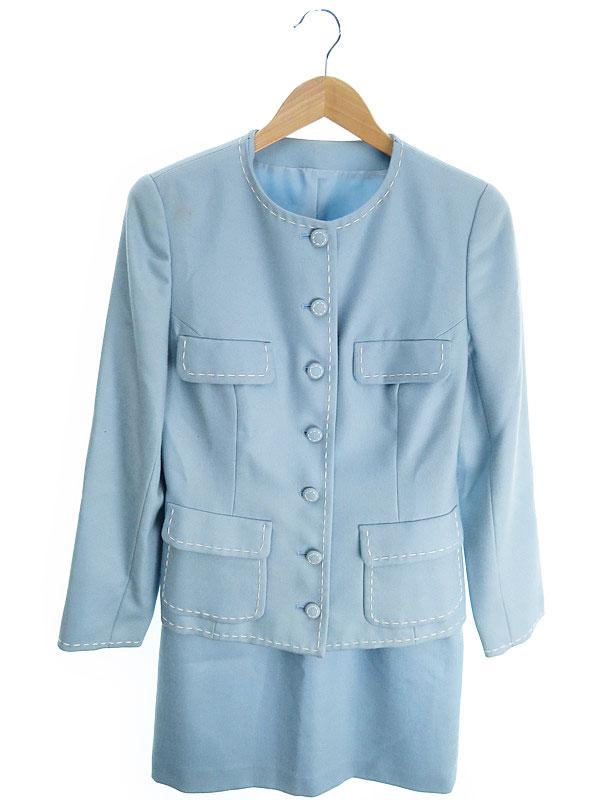 【JUNKO SHIMADA】【2ピース】【上下セット】ジュンコシマダ『セットアップスカートスーツ size9』レディース 1週間保証【中古】