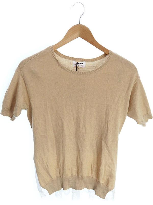 【PLST】【トップス】プラステ『重ね着風半袖ニット size2』レディース セーター 1週間保証【中古】