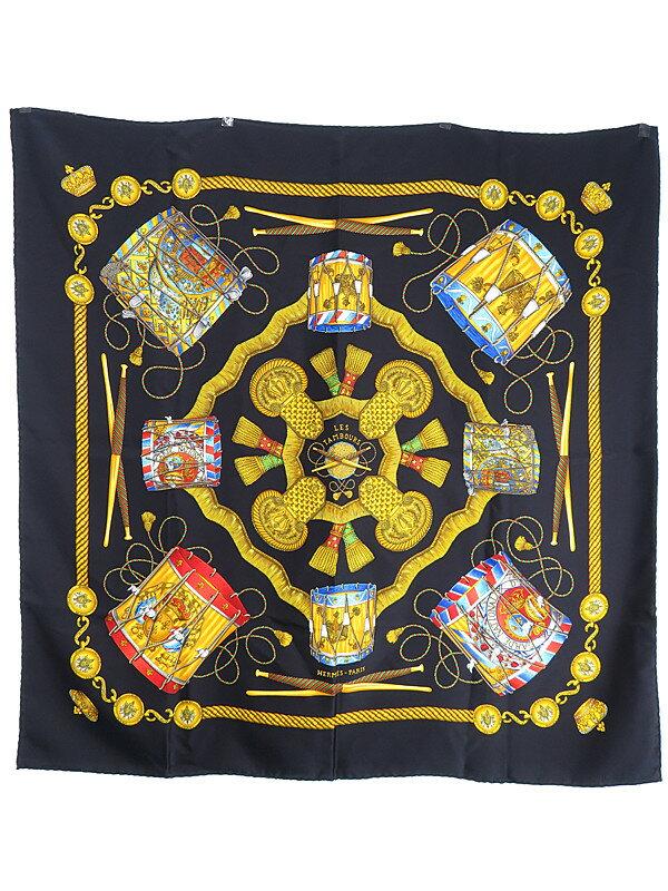 【HERMES】【LES TAMBOURS】エルメス『カレ90  タンブールの太鼓』レディース スカーフ 1週間保証【中古】