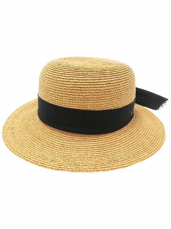 【HELEN KAMINSKI】ヘレンカミンスキー『ラフィア リボンハット』レディース 麦わら帽子 1週間保証【中古】