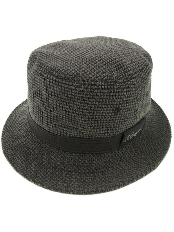 【S.T.Dupont】エステーデュポン『ハット sizeL』メンズ 帽子 1週間保証【中古】