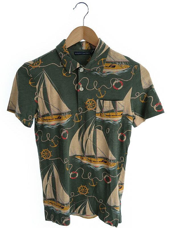 【Ralph Lauren】【トップス】ラルフローレン『ヨット柄半袖ポロシャツ sizeXS』レディース 1週間保証【中古】