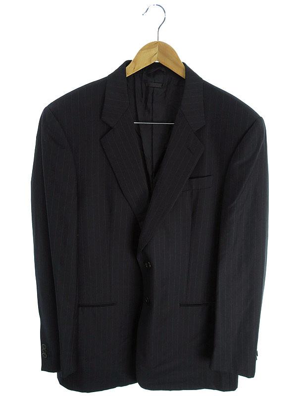 【GIORGIO ARMANI】【上下セット】【2ピース】ジョルジオアルマーニ『セットアップスーツ size56』メンズ 1週間保証【中古】