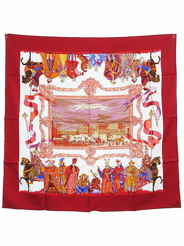 【HERMES】【TURQVERIES EN L'HONNEUR DE MHT 1748】エルメス『カレ90』レディース スカーフ 1週間保証【中古】