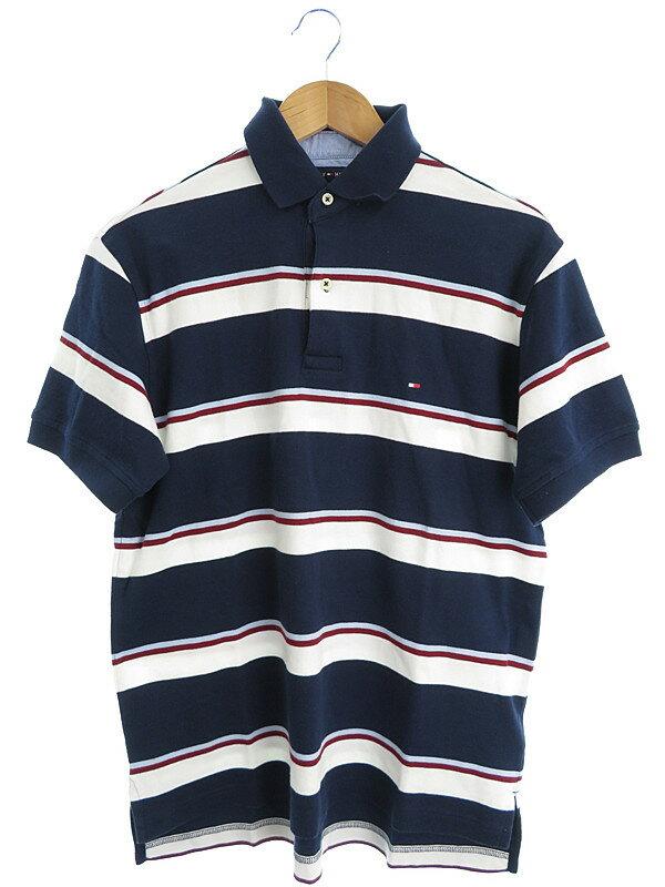 【TOMMY HILFIGER】【トップス】トミーヒルフィガー『半袖ポロシャツ sizeS/P』メンズ 1週間保証【中古】