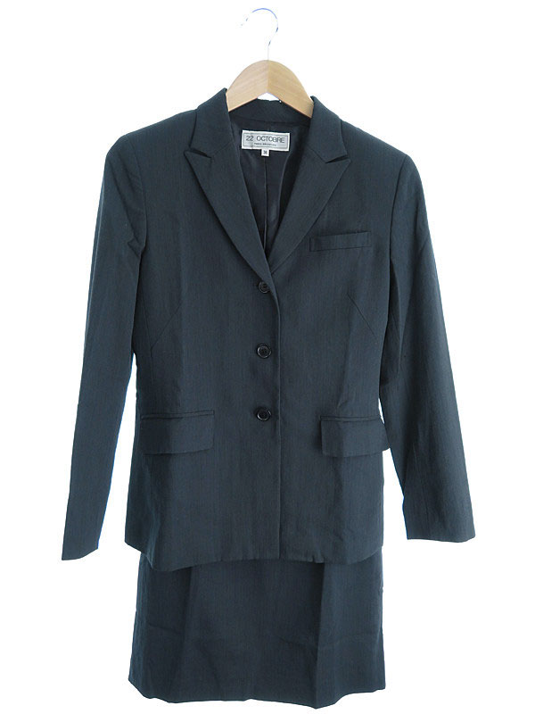 【22 OCTOBRE】【上下セット】【2ピース】ヴァンドゥーオクトーブル『スカートスーツ size38』レディース セットアップ 1週間保証【中古】