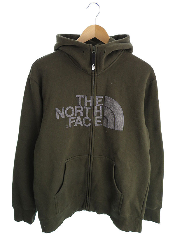 【THE NORTH FACE】ザノースフェイス『裏起毛ジップアップパーカー sizeL』メンズ 1週間保証【中古】
