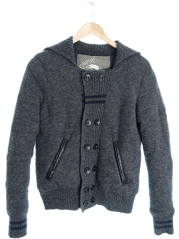 【DIESEL】【アウター】ディーゼル『ニットジャケット sizeS』メンズ 1週間保証【中古】