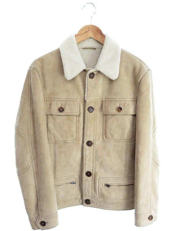 【Salvatore Ferragamo】【アウター】フェラガモ『内ボアレザージャケット size48』メンズ 1週間保証【中古】