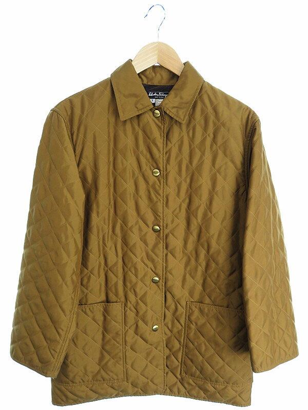 【Salvatore Ferragamo】【アウター】フェラガモ『キルティング中綿コート sizeS』レディース 1週間保証【中古】