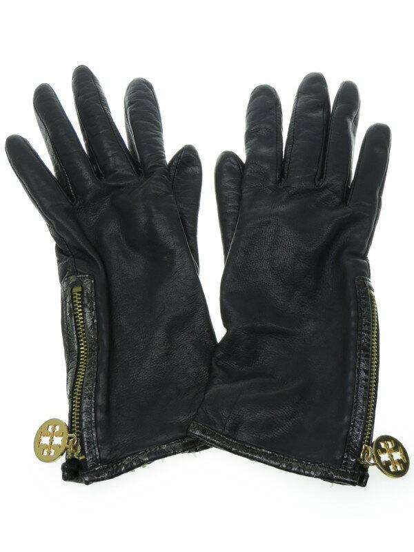 【TORY BURCH】トリーバーチ『レザーグローブ size6』レディース 手袋 1週間保証【中古】