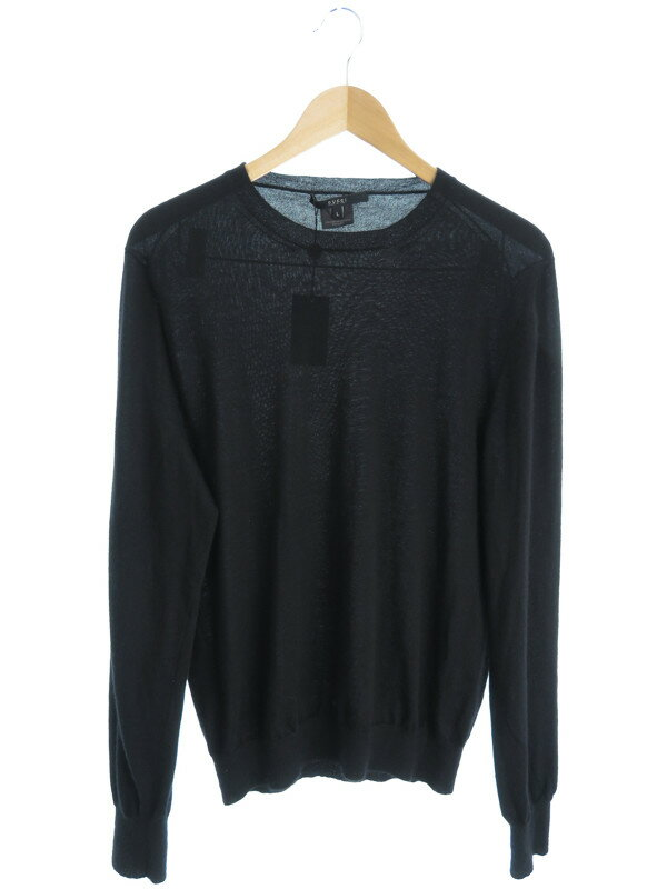 【GUCCI】【トップス】グッチ『長袖カシミヤセーター sizeL』メンズ ニット 1週間保証【中古】