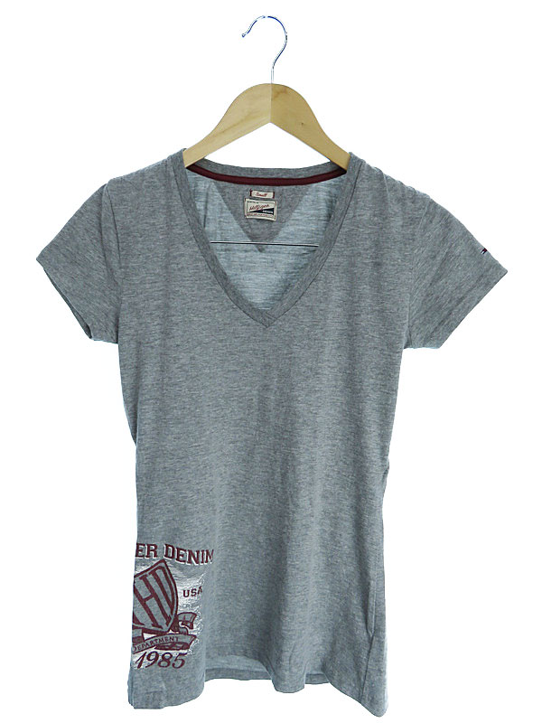 【TOMMY HILFIGER】【トップス】トミーヒルフィガー『コットン半袖Tシャツ sizeS』レディース カットソー 1週間保証【中古】