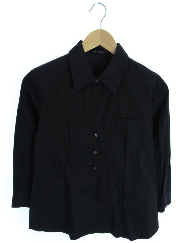 【Theory】【トップス】セオリー『七分袖プルオーバーシャツ size4』レディース ブラウス 1週間保証【中古】