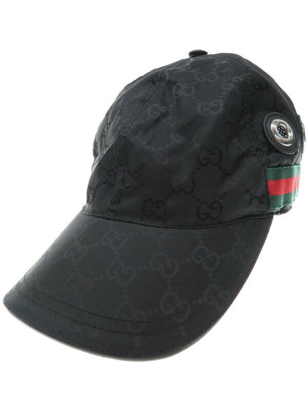 【GUCCI】グッチ『GG柄キャップ sizeM』レディース 帽子 1週間保証【中古】