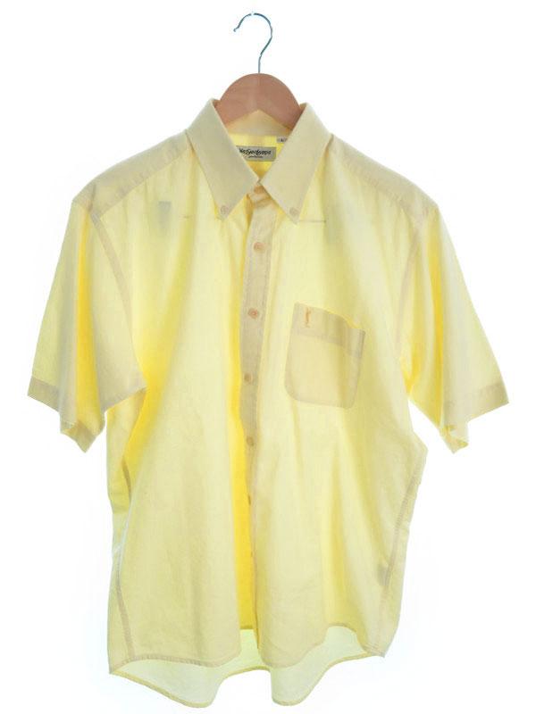 【YVES SAINT LAURENT】【トップス】イヴサンローラン『半袖ボタンダウンシャツ sizeL』メンズ 1週間保証【中古】