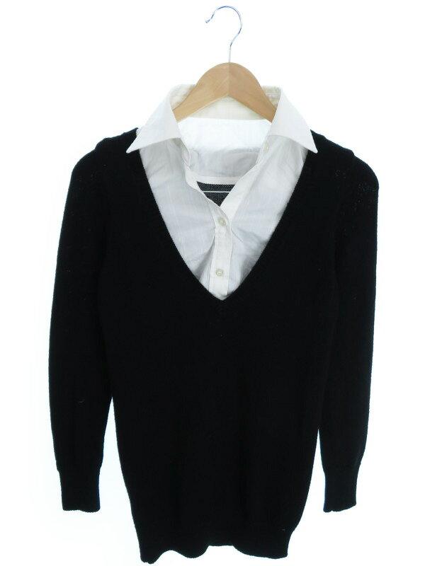 【LE SOUK】【トップス】ルスーク『重ね着風長袖ニット size38』レディース セーター 1週間保証【中古】