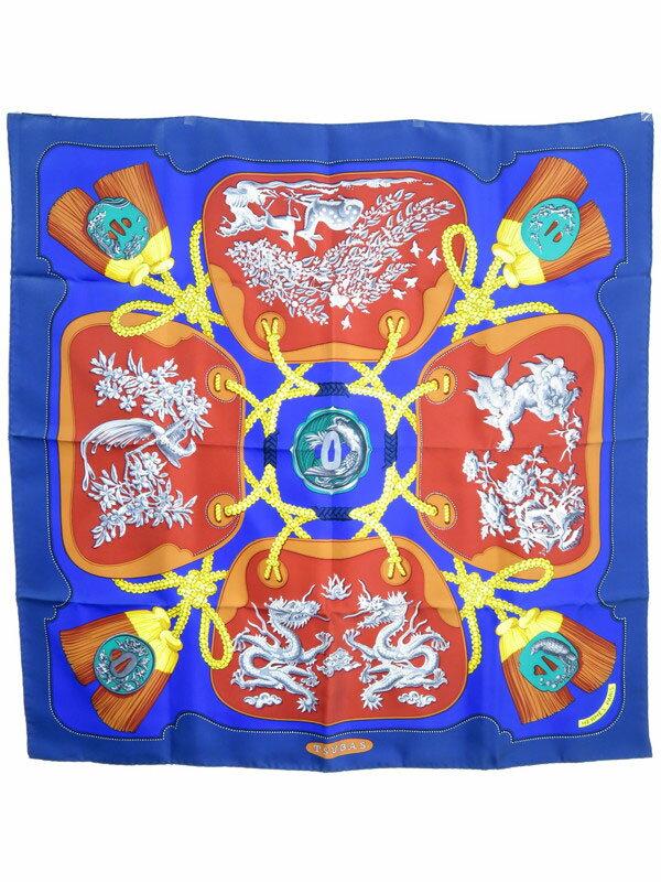 【HERMES】【TSUBAS】エルメス『カレ90 鍔』レディース スカーフ 1週間保証【中古】