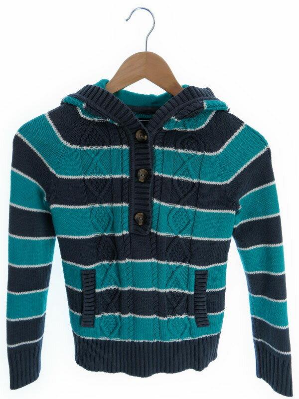 【TOMMY HILFIGER】【キッズ】【子供服】トミーヒルフィガー『フード付長袖ニット sizeM(8-10)』メンズ セーター 1週間保証【中古】