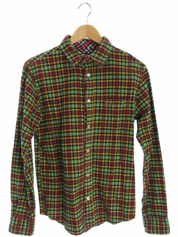 【TOMMY】【トップス】トミー『長袖チェックシャツ sizeM』メンズ 1週間保証【中古】