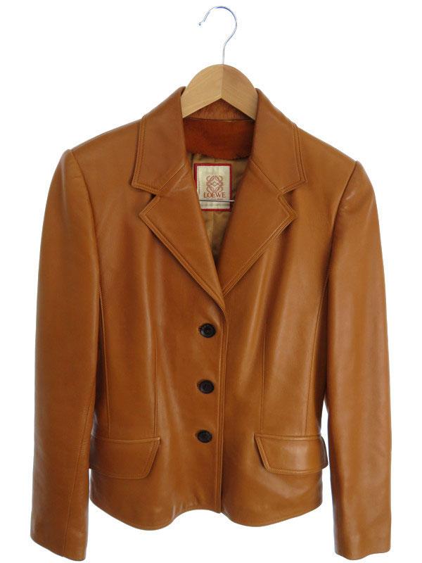 【LOEWE】【アウター】ロエベ『レザージャケット size38』レディース 革ジャン 1週間保証【中古】