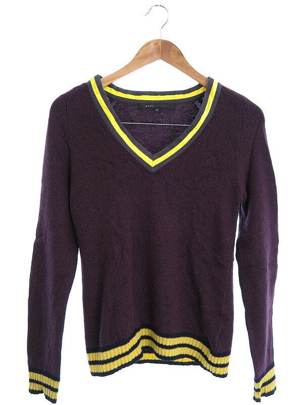 【MARC JACOBS】【トップス】マークジェイコブス『Vネックセーター sizeS』レディース ニット 1週間保証【中古】
