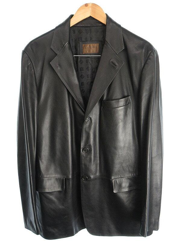 【LOEWE】【アウター】ロエベ『ラムレザーテーラードジャケット size52』メンズ 1週間保証【中古】