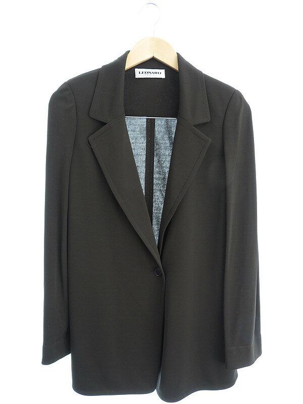 【LEONARD】【2ピース】レオナール『ジャケットパンツセットアップ size44』レディース スーツ 1週間保証【中古】
