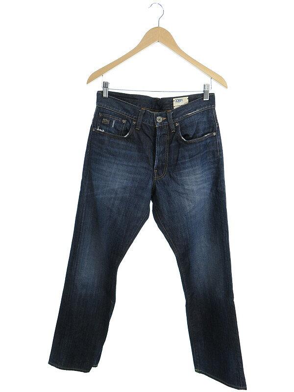 【G-STAR RAW】【ジーパン】【ボトムス】ジースターロゥ『3301 ジーンズ size30』メンズ デニムパンツ 1週間保証【中古】