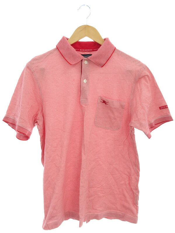 【BURBERRY GOLF】【トップス】バーバリーゴルフ『半袖ポロシャツ sizeL』メンズ 1週間保証【中古】