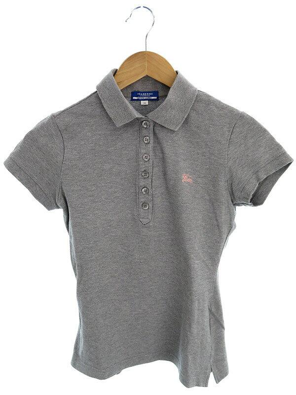 【BURBERRY BLUE LABEL】【トップス】バーバリーブルーレーベル『半袖ポロシャツ size38』レディース 1週間保証【中古】