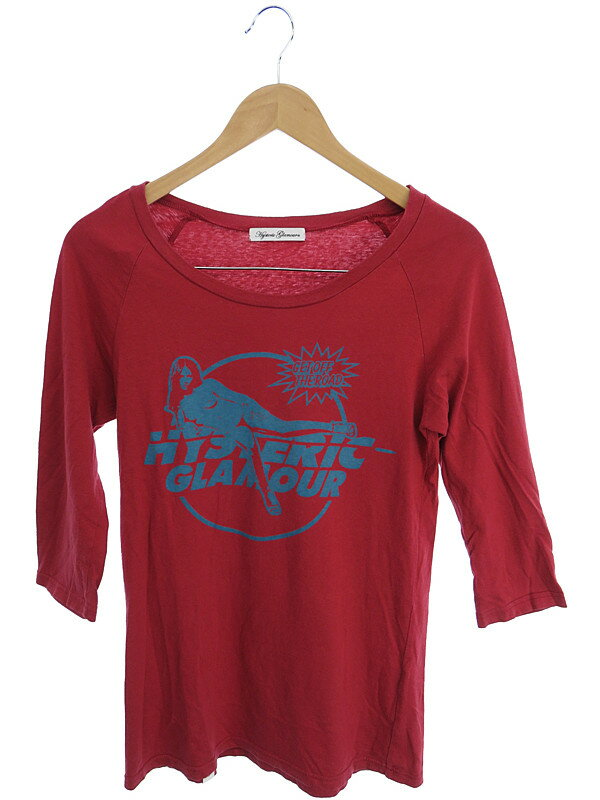 【HYSTERIC GLAMOUR】【トップス】ヒステリックグラマー『七分袖Tシャツ sizeFREE』レディース カットソー 1週間保証【中古】