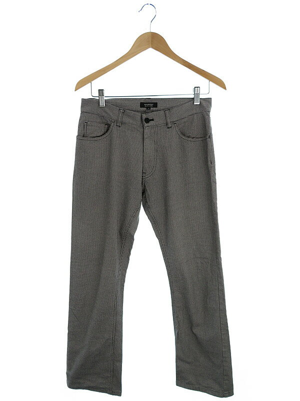 【BURBERRY BLACK LABEL】【ボトムス】バーバリーブラックレーベル『千鳥格子柄パンツ size73』メンズ 1週間保証【中古】