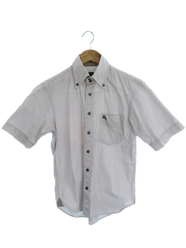 【BURBERRY BLACK LABEL】【トップス】バーバリーブラックレーベル『半袖シャツ size1』メンズ 1週間保証【中古】