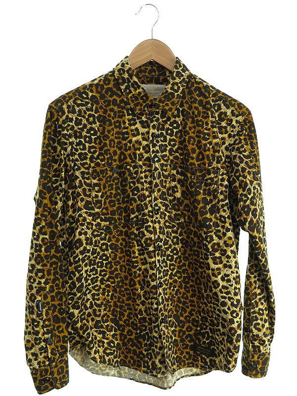 【NEIGHBORHOOD】【トップス】ネイバーフッド『ヒョウ柄長袖シャツ sizeS-REGULAR』メンズ 1週間保証【中古】