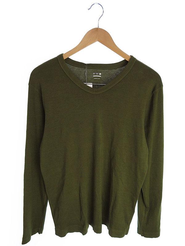 【THREE DOTS】【トップス】スリードッツ『コットン長袖Tシャツ sizeL』メンズ カットソー 1週間保証【中古】