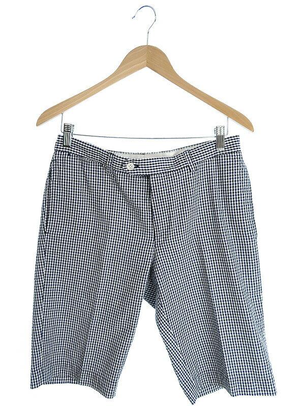【UNITED ARROWS】【ボトムス】ユナイテッドアローズ『ギンガムチェックハーフパンツ sizeM』メンズ 半ズボン 1週間保証【中古】
