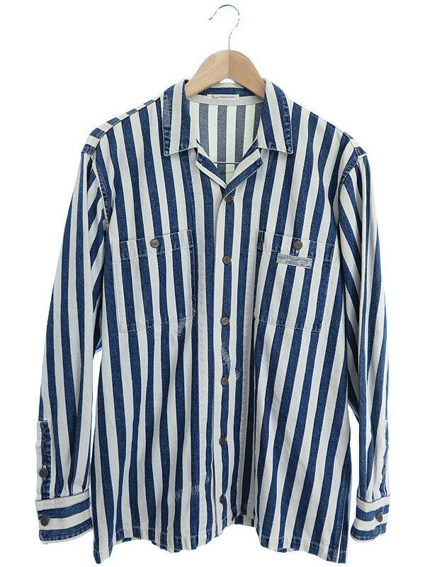 【PAPAS】【アウター】パパス『長袖シャツジャケット size48』メンズ 1週間保証【中古】