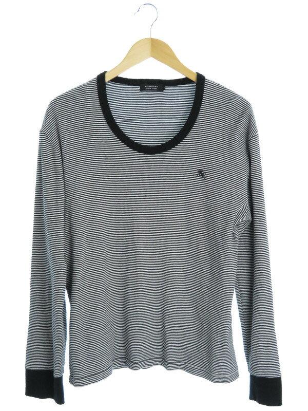 【BURBERRY BLACK LABEL】【トップス】バーバリーブラックレーベル『ボーダー柄Tシャツ size3』メンズ カットソー 1週間保証【中古】