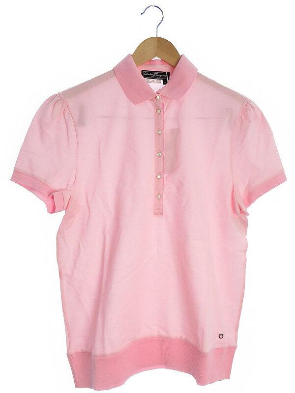 【Salvatore Ferragamo】【トップス】フェラガモ『半袖ポロシャツ sizeXL』レディース 1週間保証【中古】