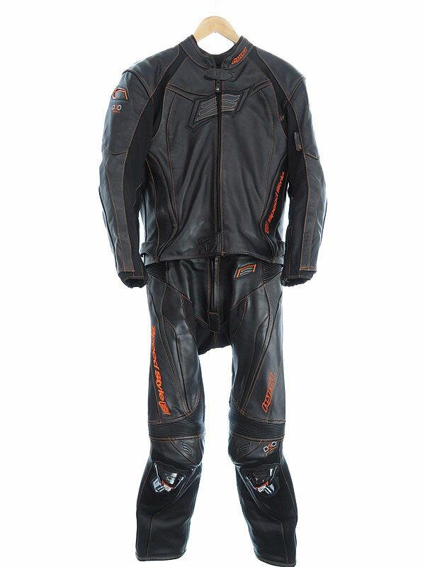 【HYOD】【プロテクター入り】【ライナー付き】ヒョウドウ『レザーセパレートレーシングスーツ sizeM』メンズ オールインワン 1週間保証【中古】