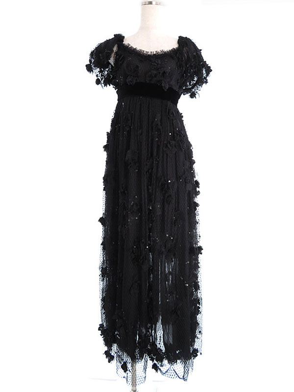 【Dolce&Gabbana】【ドルガバ】ドルチェ&ガッバーナ『スパンコール付ロングドレス size38』レディース 1週間保証【中古】
