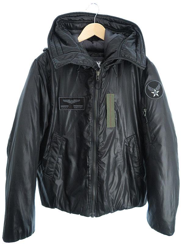 【AVIREX】【アウター】アヴィレックス『中綿ジャケット sizeL』メンズ ブルゾン 1週間保証【中古】