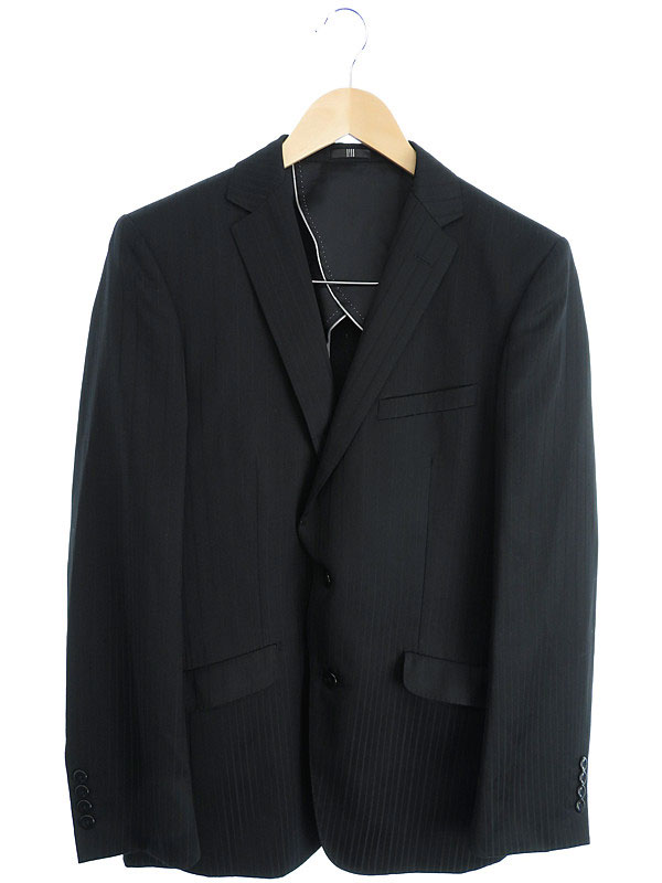 【SUIT SELECT】【3ピース】【上下セット】【ベスト付き】スーツセレクト『ストライプスーツ sizeA7』メンズ セットアップ 1週間保証【中古】