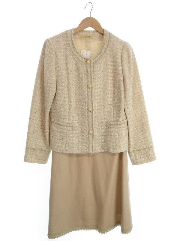【avienne】【上下セット】アヴィエンヌ『スカートスーツ size44』レディース セットアップ 1週間保証【中古】