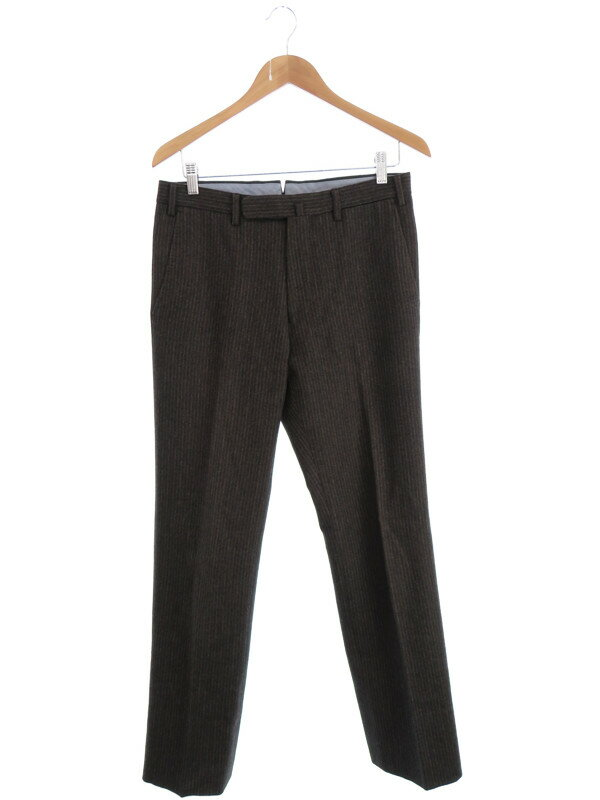 【TOMORROWLAND】【ボトムス】トゥモローランド『ストライプ柄ウール混パンツ size46』メンズ 1週間保証【中古】
