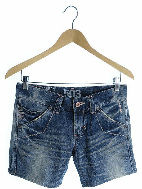 【EDWIN】【ボトムス】エドウィン『BLUE TRIP 503 デニムショートパンツ sizeS』レディース 1週間保証【中古】