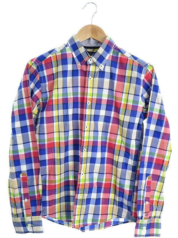 【TOMMY HILFIGER】【トップス】トミーヒルフィガー『チェック柄長袖シャツ sizeS』メンズ 1週間保証【中古】