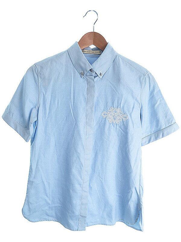 【BALENCIAGA】【トップス】バレンシアガ『半袖シャツ size40』レディース 1週間保証【中古】